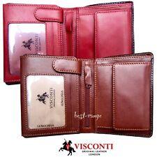 Para hombres Cuero Billetera triple compacto alta Calidad Visconti nuevo en caja de regalo TR34