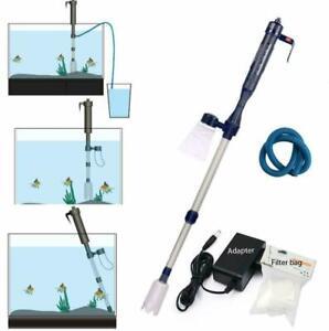Aquarium Gravel Battery Fish Tank Vacuum Siphon Cleaner Pump Water Filter New