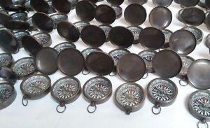 Antique Brass Lid Compass 45 mm Lot Of 50 Pcs Marine Collectible Decorative