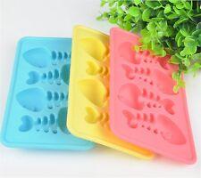 Fish & bone Cat treat DIY Silicone Soap mold Candy Chocolate Fondant Tray mould