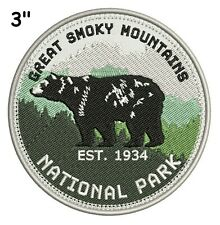 """Great Smoky Mountain National Park 1934~Embroidered Patch~3"""" Round~Iron / Sew-On"""