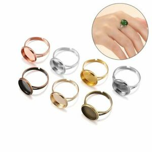 Diy Jewelry Making Blank Ring Base Cameo Settings Tray Gem Tray Rings