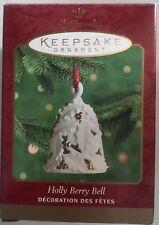 Hallmark Keepsake Ornament Fine Porcelain Holly Berry Bell Collectible
