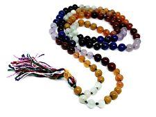 7 Seven Chakra Gemme Mala Japa Perles de Prière Reiki Chargé Chakra Équilibrage