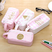 Canvas Pencil Case Bag Large Capacity Cute  Zipper Student School Stationery
