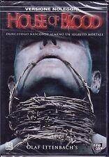 Dvd **HOUSE OF BLOOD** di Olaf Ittenbach nuovo sigillato 2006