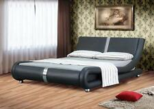 Faux Leather Cloud Nine Medium Firm Beds with Mattresses
