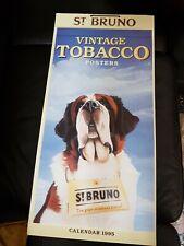 More details for st bruno vintage calendar 1995 advert beautiful tobacco prints jan/dec 1995