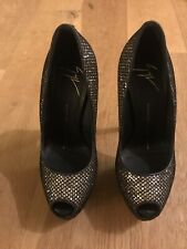 Giuseppe Zanotti Gold Glitzy size 3/36Women's Shoes Perfect For Christmas &NY