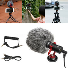 On-Camera Compact Live Microphone Video Shotgun Recording For Canon Nikon DSLR