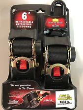 6' Re-tractable Ratcheting Tie-downs Ratchet straps Erickson