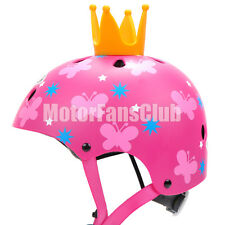 Girl Pink Children Shockproof Bicycle Cycling Scooter Adjustable Half Helmet