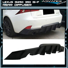 Fits 14-16 Lexus IS250 350 Rear Bumper Lip Diffuser Black - Poly Urethane PU