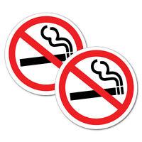 No Smoking Sign 2 x Sticker Decal Safety Sign Car Vinyl #6504ST