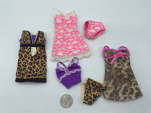 BARBIE DOLL LOT Leopard CLOTHING DRESS SLEEP NIGHT PAJAMAS PANTIES Underwear