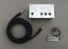 PIEZO-ONE HYBRID CONVERSION SYSTEM FOR STRAT BRIDGES Saddle + Preamp + Cable