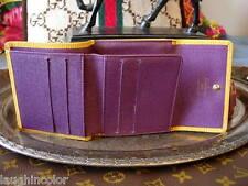 Auth LOUIS VUITTON Yellow Purple EPI WALLET Coin Handbag Purse Accessory Case LV