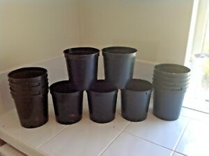 15 X 2 Litre Plant Pots  Plastic Green  Flower Pots