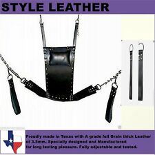 Genuine Heavy Duty Leather Sex Swing / Sling Adult Play Room Fun Sw 002
