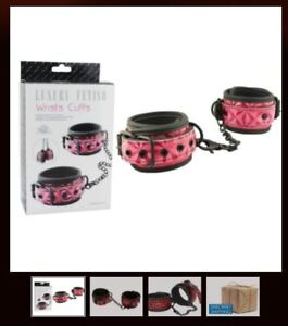 Deluxe Padded Crimso patent Sexy Ankle wrist cuffs Quality Bondage Restraint