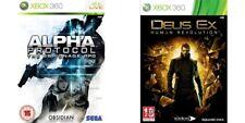 alpha protocol the espionage rpg & deus ex human revolution   xbox 360 PAL