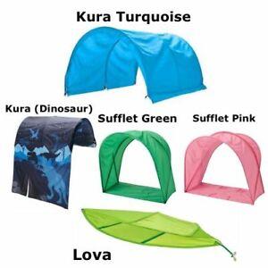 IKEA- LOVA, KURA, SUFFLET PINK/GREEN- KIDS/ CHILDRENS BED CANOPIES & BED TENT