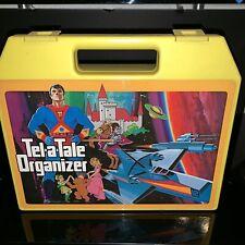 Vintage 1980s Tel A Tale Organizer Cassette Book Storage Collectors Case Display