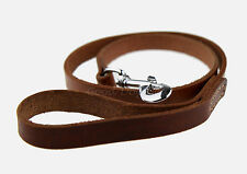 Genuine Leather Dog Leash - Quality Thick Leather - Ideal for Big Dogs - 120 cm