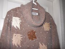 Private Party Dressy Sweater/Top-L WOW SOFT ANGORA fuzz & gem/pearl detailing!