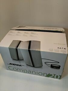 Bose Companion 20 Multimedia Speaker System - NEW OPEN BOX - Complete w/ Manual