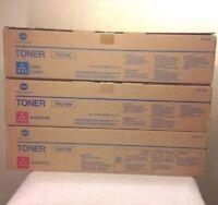 konica Minolta Toners 2-TN210M 1-TN210C  8938- 507 508 506 505 Lot of 3