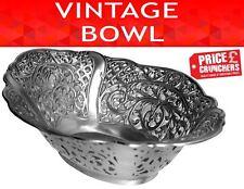 Vintage Homeware Metal Bowl Kitchen Fruit Dish Antique Retro Shabby Chic Gift
