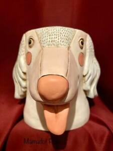 Allen Designs Dog Polyresin Planter Pot