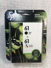 HP 61 Black Ink Cartridge and Tri-Color Ink Cartridges (CR259FN) EXP 03/2020