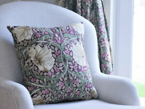 William Morris Cushions Pimpernel Aubergine