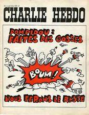 """""""CHARLIE HEBDO N°4 14/12/1970"""" WILLEM: POMPIDOU Faites des gosses nous ferons..."""