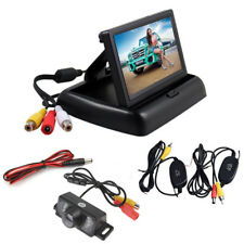 Wireless Car Reverse Rear View Backup License Plate Camera+4.3HD TFT LCD Monitor
