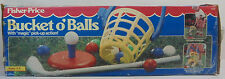 FISHER PRICE 1993 BUCKET O BALLS GOLF SET EUROPEAN MIB UNUSED w/ 7 BALLS TO PLAY
