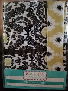 """Waverly Baby RISE AND SHINE Diaper Stacker  100% washable 12 x 20 x 8"""""""