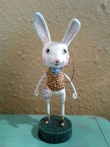 "Lori Mitchell's Alice in Wonderland Storybook ""THE WHITE RABBIT"" Collectible"