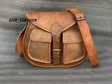 Women's Vintage Genuine Brown Leather Outdoor Messenger Shoulder Cross Body Bag