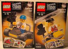 Lego 1360 1361 Studios Director's Copter & Camera Car RARE NEW Sealed 2001