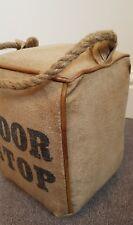 Leather & Canvas Doorstop Square Rope Handle Door Stop Home Accessories Gift