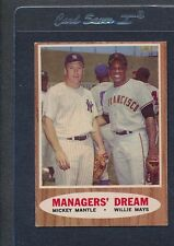 1962 Topps #018 Mickey Mantle Willie Mays VG/EX *82