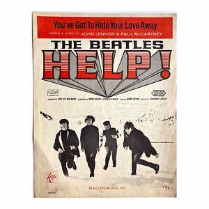 The Beatles YOU'VE GOT TO HIDE YOUR LOVE AWAY Sheet Music KEYS 04413 HELP Maclen