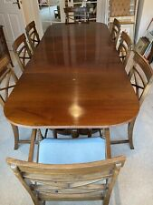 More details for antique mahogany dining table and chairs