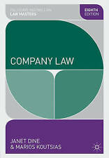 Company Law (Palgrave Macmillan Law Masters), Good Condition Book, Dine, Janet,