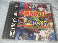 MARVEL VS CAPCOM PS1 PLAYSTATION CASE & MANUAL ONLY NO DISC FIGHTING GAME Rare