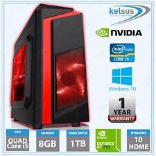 Cheap Quad Core i5 CPU Gaming Desktop Computer PC 8GB RAM 1TB Windows 10 nVidia