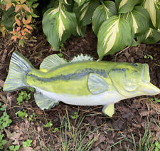 Concrete Large Mouth Bass Fish Outdoor garden statue For Patio Yard Lawn Decor